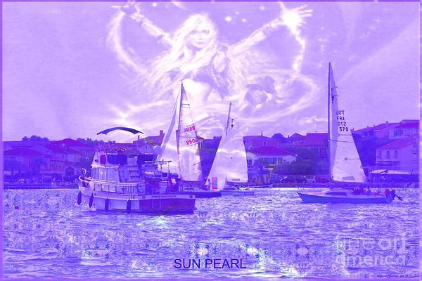 Sailing Art Print featuring the photograph Angel Skies by Rogerio Mariani