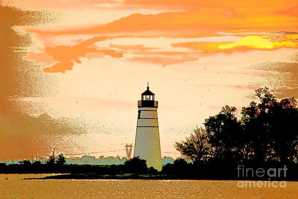 Lighthouse Photograph Art Print featuring the photograph Artistic Madisonville Lighthouse by Luana K Perez