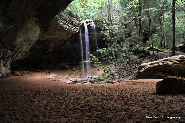 Ash Cave Hocking Hills Ohio Hike Travel Waterfall Art Print featuring the photograph Ash Cave by Tina Karle