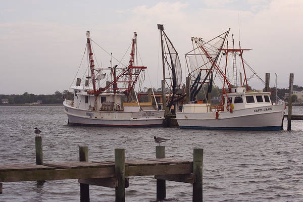 Fishing Trawlers Art Print featuring the photograph At Rest 2 by Michael Mischley
