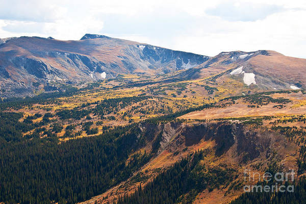 Mountain Art Print featuring the photograph Autumn In Rocky Mountain National Park by Bob and Nancy Kendrick