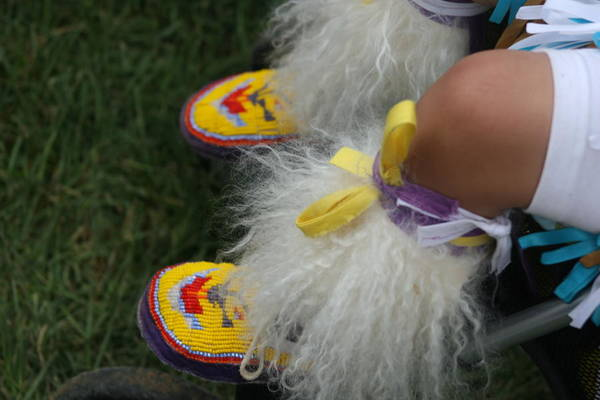 Pow Wow Art Print featuring the photograph Baby Moccasins by Laurie Prentice