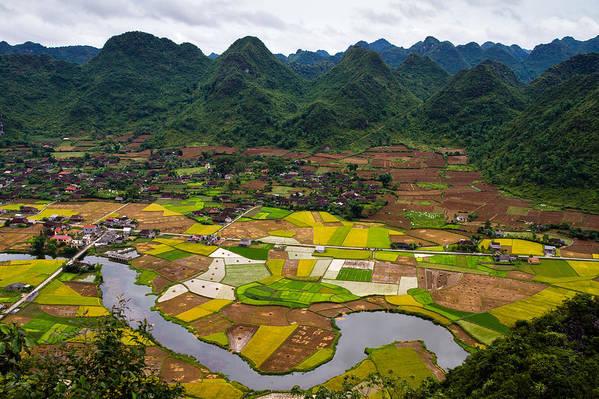Horizontal Art Print featuring the photograph Bac Son Rice Field by Hoang Giang Hai
