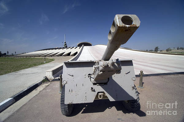 Baghdad Art Print featuring the photograph Baghdad, Iraq - An Iraqi Howitzer Sits by Terry Moore
