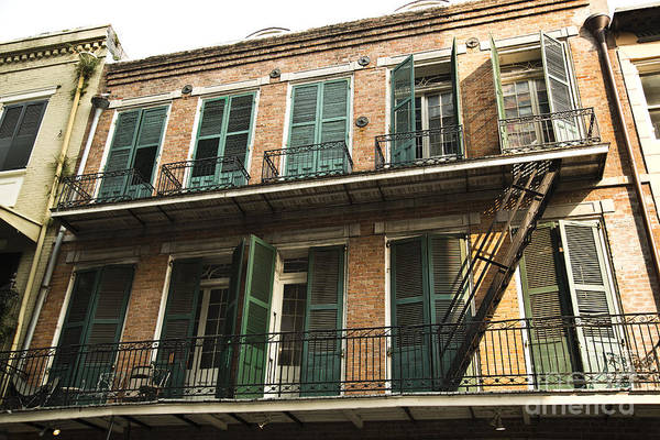 New Orleans Art Print featuring the photograph Balcony by Leslie Leda