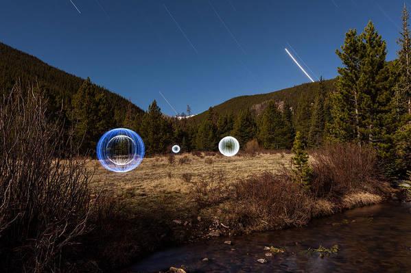 Balls Art Print featuring the photograph Balls Of Light Field by Richard Steinberger