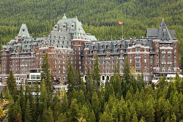 Canadian Rockies Art Print featuring the photograph Banff Hotel 1684 by Larry Roberson