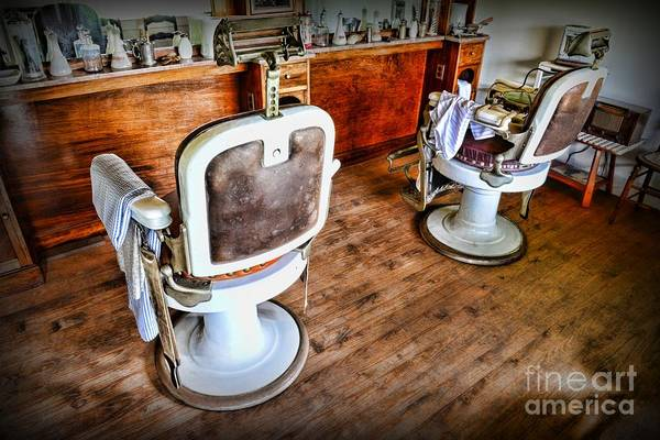 Barber - The Barber's Chair Art Print featuring the photograph Barber - The Barber Shop 2 by Paul Ward