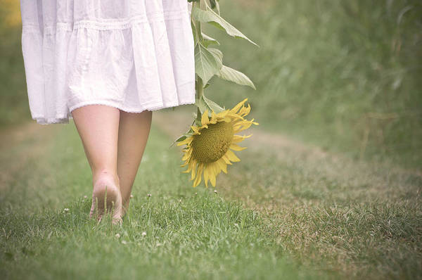 35-39 Years Art Print featuring the photograph Barefoot Summertime by Marta Nardini