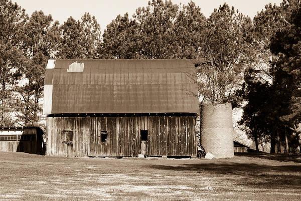 Barn Art Print featuring the photograph Barn And Silo 1 by Douglas Barnett