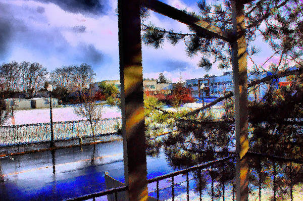 Urban Impressionism 2011 Art Print featuring the mixed media Beaverton H.s. Winter 2011 by Terence Morrissey