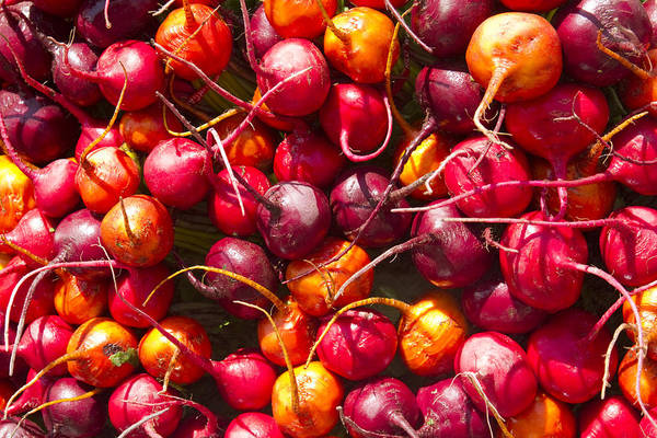 Horizontal Art Print featuring the photograph Beets At A Farmer's Market, Boulder, Colorado by James Gritz