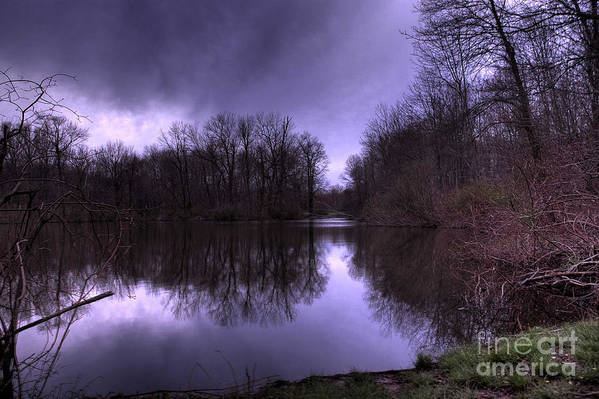 Park Art Print featuring the photograph Before The Storm by Paul Ward