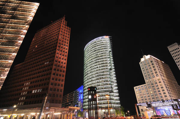 Berlin Art Print featuring the photograph Berlin Potsdamer Platz Potsdam Square Germany by Matthias Hauser