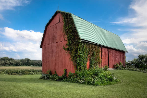 Big Barns Art Print featuring the photograph Big Red Barn On Rt 227 by Gary Heller