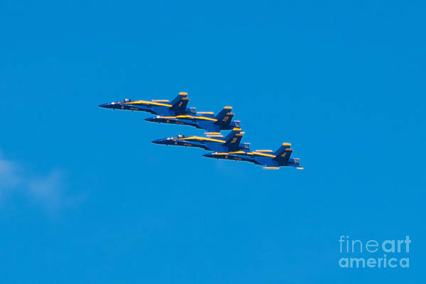 Blue Angels Art Print featuring the photograph Blue Angels by Mark Dodd
