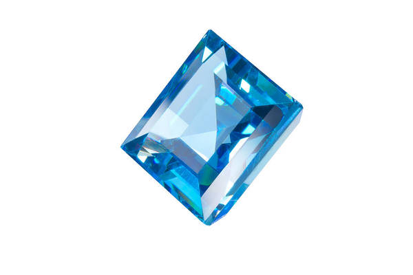Allure Art Print featuring the jewelry Blue Gem Isolated by Atiketta Sangasaeng