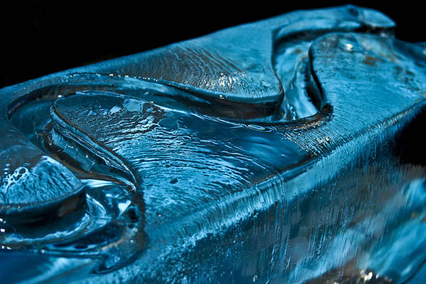 Blue Art Print featuring the photograph Blue Ice by Elaina Wilcox