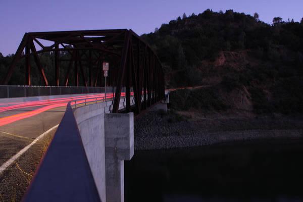Landscape Art Print featuring the photograph Bridge At Dusk by Leonard Sharp