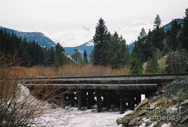 Rail Road Art Print featuring the photograph Bridge The Gap by Christopher Griffin