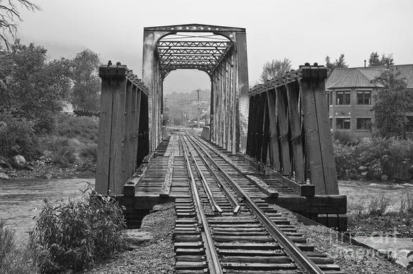 Cumbres & Toltec Art Print featuring the photograph Bridging The River by Tim Mulina