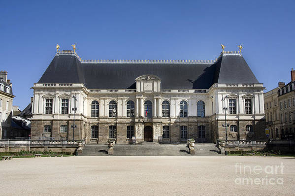 Ancient Art Print featuring the photograph Brittany Parliament by Jane Rix
