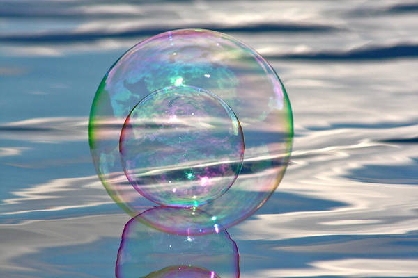 Bubble Art Print featuring the photograph Bubble In A Bubble by Cathie Douglas