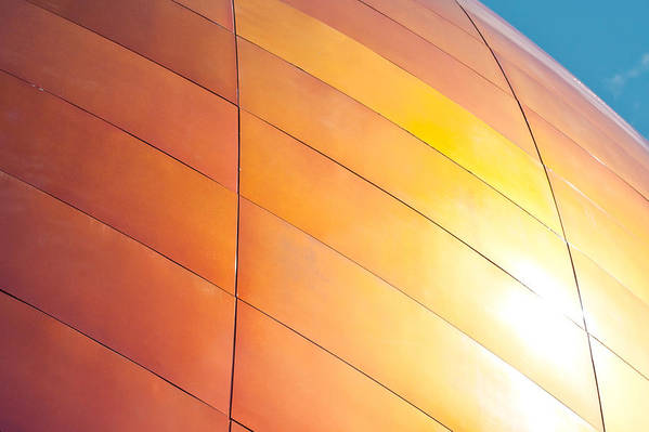 Abstract Art Print featuring the photograph Building Exterior by Tom Gowanlock