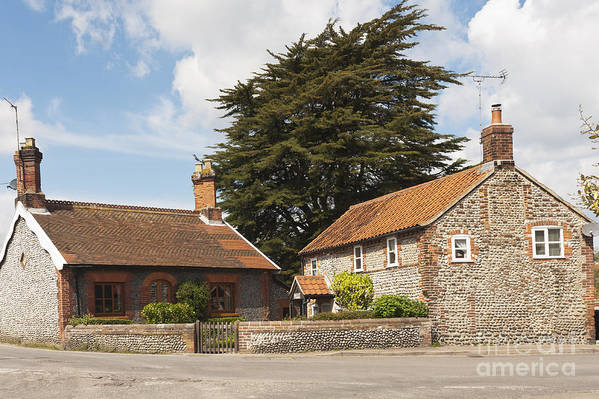Britain Art Print featuring the photograph Building Houses Traditional Weybourne Norfolk by Hugh McKean
