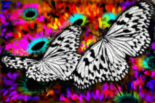Nature Art Print featuring the digital art Butterfly by Ilias Athanasopoulos
