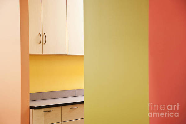Architecture Art Print featuring the photograph Cabinets In An Office Supply Room by Jetta Productions, Inc