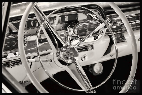 Car Art Print featuring the photograph Cadillac Control Panel by Miso Jovicic