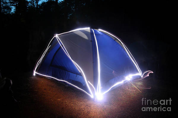 Tent Print featuring the photograph Camping by Ted Kinsman