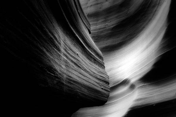 Southwest Art Print featuring the photograph Canyon Curves In Black And White by Christine Till