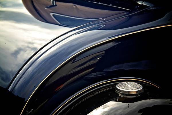 Car Art Print featuring the photograph Car Abstract by Odd Jeppesen