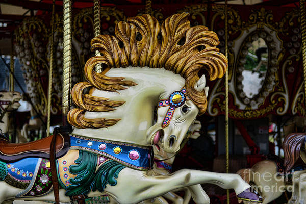 Carousel Art Print featuring the photograph Carousel Horse - 4 by Paul Ward