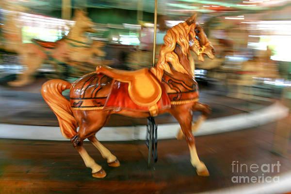 Carousel Art Print featuring the photograph Carousel Horse by Ken Marsh