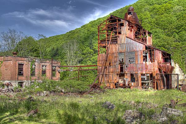 Cass cass Scenic Railroad Sawmill Timber west Virginia Rust Art Print featuring the photograph Cass Sawmill by Tom Steele