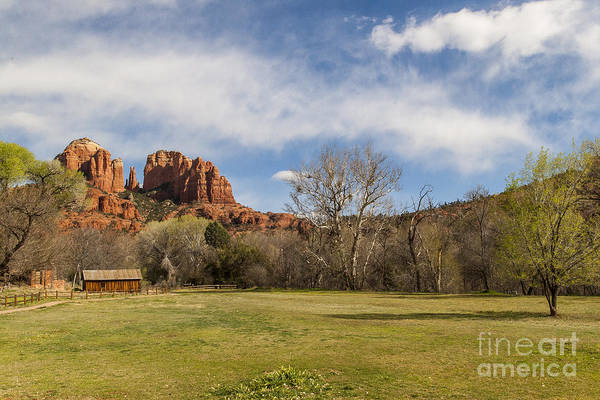 Cathedral Rock Art Print featuring the photograph Cathedral Rock From The Park by Darcy Michaelchuk