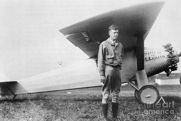 Charles Lindbergh Art Print featuring the photograph Charles Lindbergh American Aviator by Photo Researchers