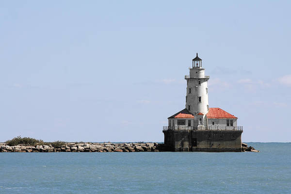 Chicago Print featuring the photograph Chicago Harbor Light by Christine Till