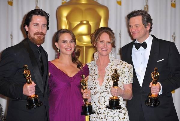 Christian Bale Art Print featuring the photograph Christian Bale, Natalie Portman by Everett