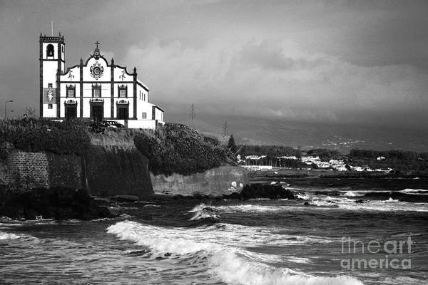 Inspirational Art Print featuring the photograph Church By The Sea by Gaspar Avila