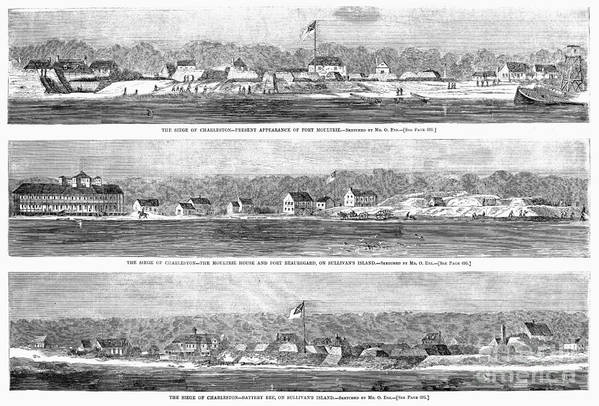 1863 Art Print featuring the photograph Civil War: Fort Moultrie by Granger