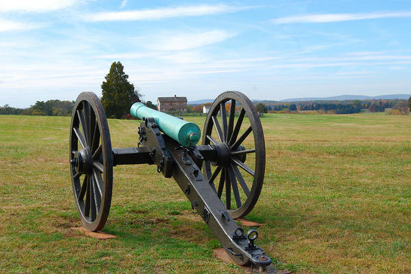 The Battle Of First Manassas Art Print featuring the digital art Civil War Lone Canon by Eva Kaufman