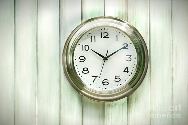 Analog Art Print featuring the photograph Clock On The Wall by Sandra Cunningham