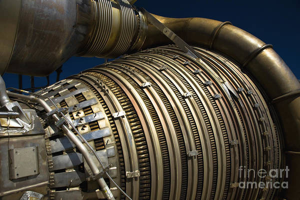 Rockets Print featuring the photograph Close-up View Of A Rocket Engine by Roth Ritter