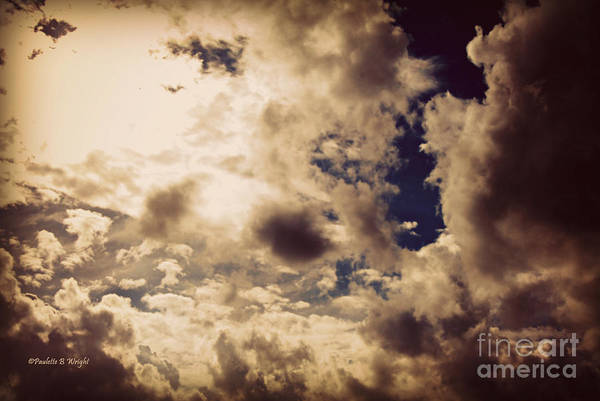 Clouds Art Print featuring the photograph Clouds-8 by Paulette B Wright