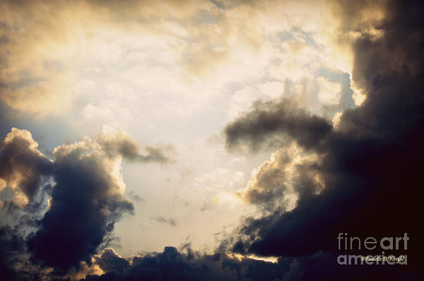 Clouds Art Print featuring the photograph Clouds-9 by Paulette B Wright