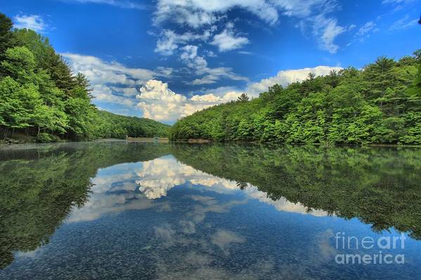 Long Branch Lake Art Print featuring the photograph Clouds In The Lake by Adam Jewell